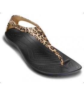 Crocs Sexi Wild  Black/Gold Flip