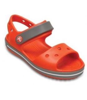 Crocband Sandal Kids Tangerine / Smoke