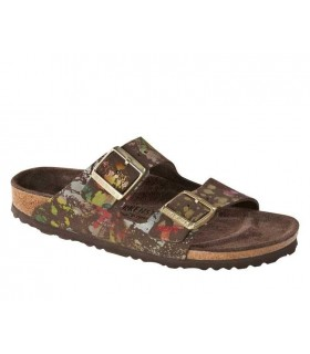 Birkenstock Arizona Birko-Flor Flower  Crush  Mocca