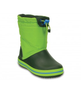 Crocs Kids' Crocband™ LodgePoint Boot Lime/ Forest Green