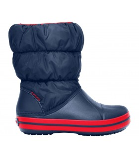 Crocs Kids' Winter Puff Boot Navy / Red