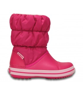 Crocs Kids' Winter Puff Boot Candy Pink