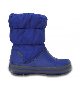 Crocs Kids' Winter Puff Boot Cerulean Blue / Light Grey
