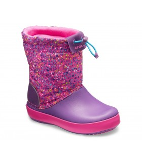 Crocs Kids' Crocband™ LodgePoint Boot Neon Magenta / Amethyst