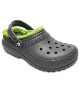 Crocs Classic Lined Clog K Slate Grey/Volt Green