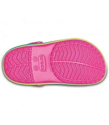 Crocband  Rainbow Band Clogs (Paradise Pink)