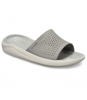 Crocs LiteRide Slide  Smoke / Pearl White