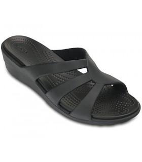 Crocs Sanrah Strappy Wedge Black