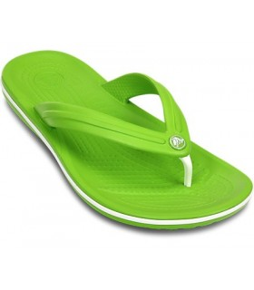 Crocband Flip (Volt Green/White)