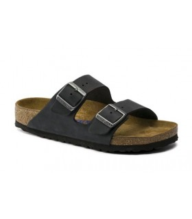 Birkenstock Arizona Soft Footbed Oiled Nubuck Leather Black 752481