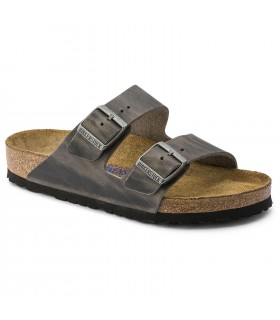 Birkenstock Arizona Soft Footbed Oiled Leather Iron 552801