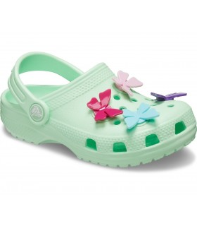 Classic Butterfly Clog Charm Neo Mint