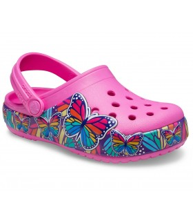 Crocs Fun Lab Multi-Butterfly Band Lights Clog Electric Pink