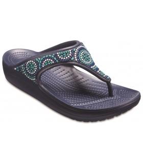 Crocs Sloane Embellished Flip Beaded Nayvy / Turquoise