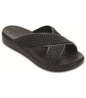 Crocs Sloane Embelished Xstrap Black / Black