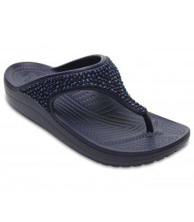 Crocs Sloane Embellished Flip Black / Black