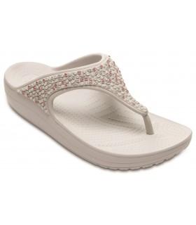 Crocs Sloane Embellished Flip Pearl White