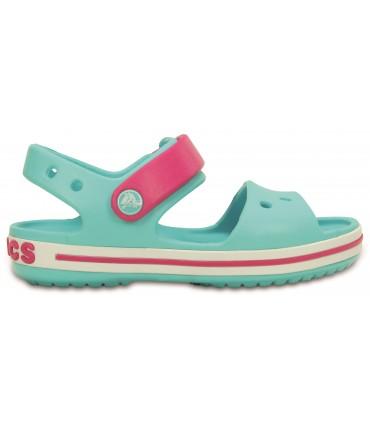 Crocband Sandal Kids Pool/Candy Pink)
