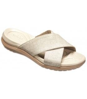 Capri Shimmer Xband Sandal Oyster / Cobblestone