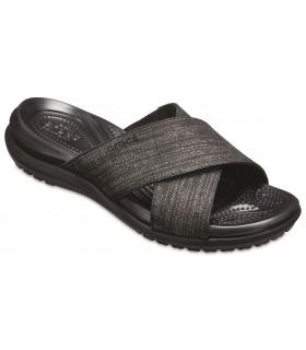 Capri Shimmer Xband Sandal Black