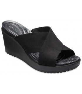 Leigh II XStrap Wedge Black/Black