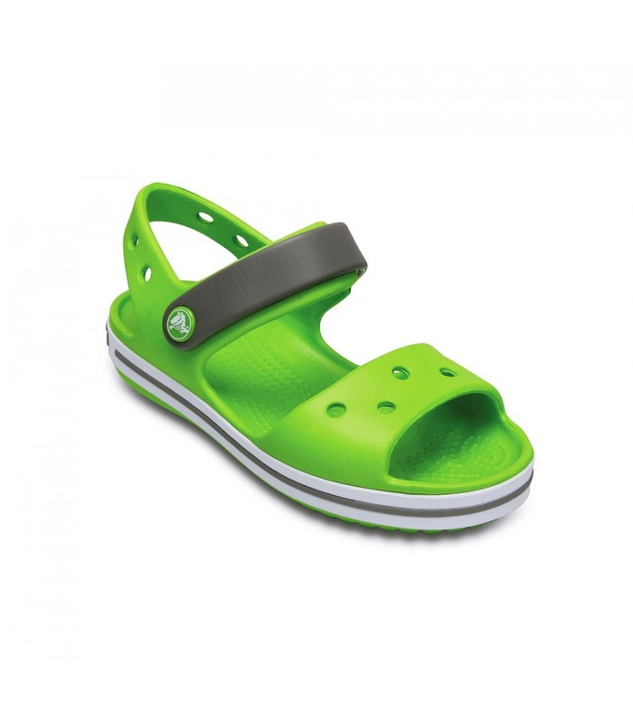 Crocband Sandal Kids Volt Green Smoke