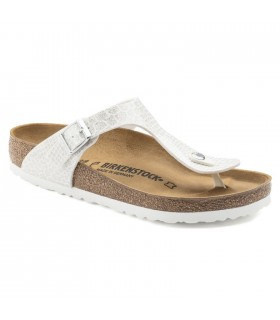 Birkenstock Gizeh Birko-Flor Magic Snake White